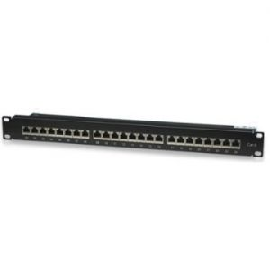 "Panel patch para armario Rack 19"" 1U CAT. 6 STP 24 puertos RJ45 WP - WPC-PAN-6F-24"