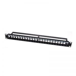 "Blank Panel patch para armario Rack 19"" 1U CAT. 5E / CAT.6 UTP 24 puertos WP - WPC-PAN-BU24"